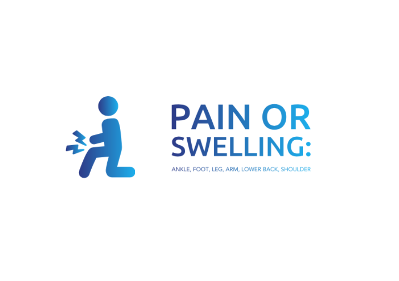 Pain or swelling