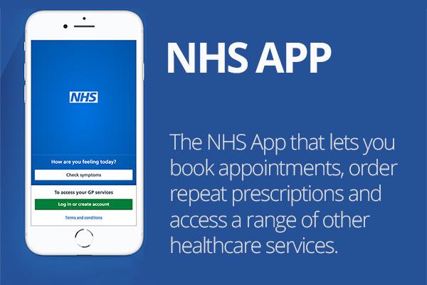 the NHS app