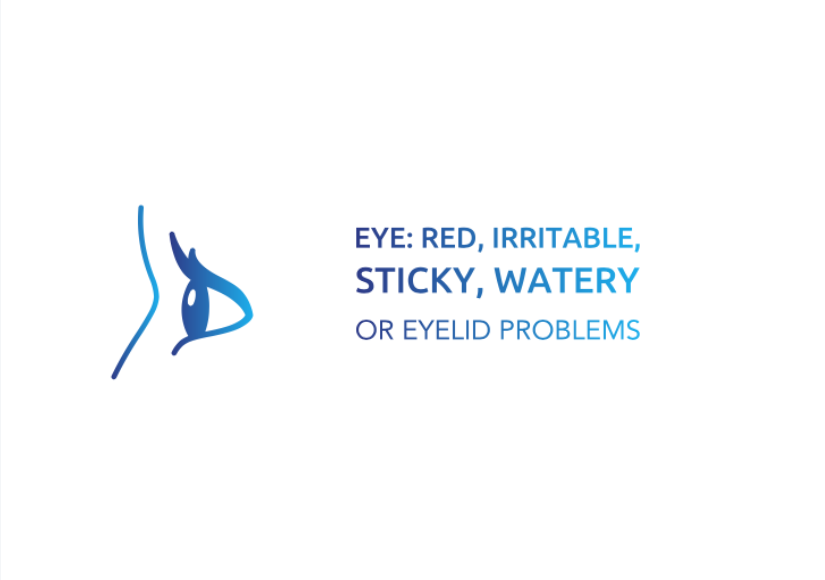 Eye: Red, Irritable, Sticky, Watery or Eyelid problems