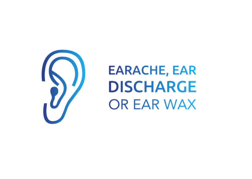 Earache, ear discharge, or ear wax